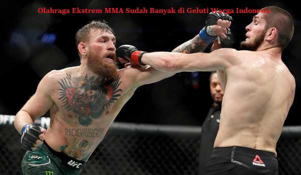 Olahraga Ekstrem MMA Sudah Banyak di Geluti Warga Indonesia